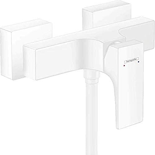 hansgrohe 32560700 Metropol - Miscelatore monocomando per doccia da parete con maniglia a leva, colore: Bianco opaco