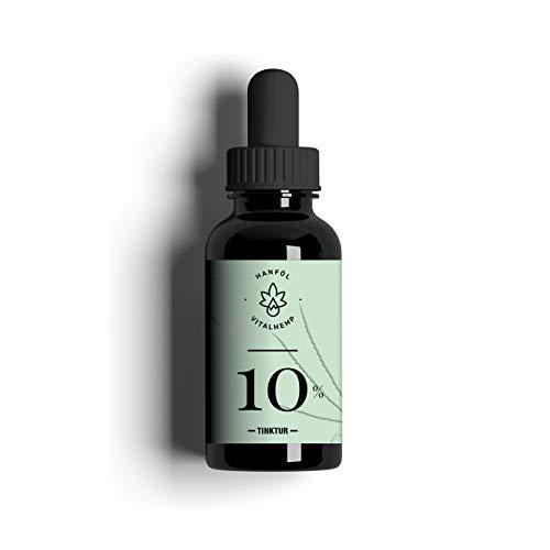 De VitalHemp Health Boost 10 - VitalHemp biologische hennepzaadolie (10 ml) voorziet je van waardevolle voedingsstoffen en talrijke vitaminen I 100% - Made in Austria