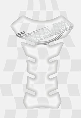 TRIUMPH MOTORCYCLE TANK PROTECTOR PAD (CLEAR) MADE IN ITALY BONNEVILLE, THRUXTON, STREET TWIN, SCRAMBLER, DAYTONA, STREET TRIPLE, TIGER SPEED, MASTER
