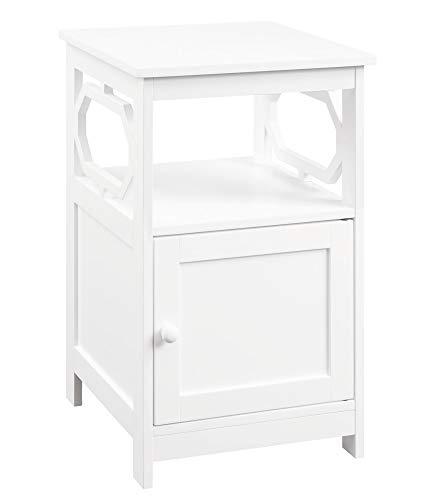 Convenience Concepts Omega - Tavolino con mobiletto, colore: Bianco