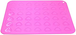 Silicone bakeware 42 Hearts Shape Macaroon Molds Muffin Oven Pad Baking Tray Liner Cake Pastry Macaron Mat waffle maker