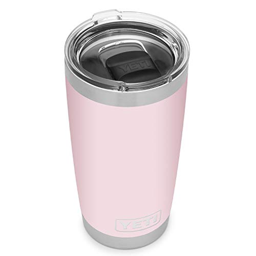 YETI Rambler 20 oz Tumbler, Stainless Steel, Vacuum Insulated with MagSlider Lid, Ice Pink