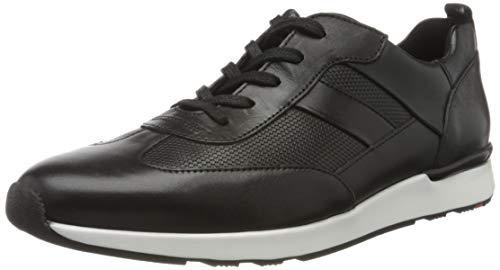 LLOYD Herren Low-Top Sneaker Alfonso, Männer Sneaker,VARIOFOOTBED,XTRALARGE, Halbschuh strassenschuh schnürer schnürschuh,SCHWARZ,10 UK / 44.5 EU