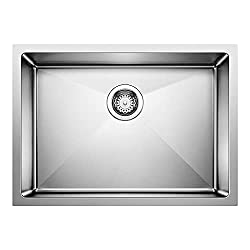 #3. Blanco 519547 Quatrus R15 Undermount Single Bowl Sink