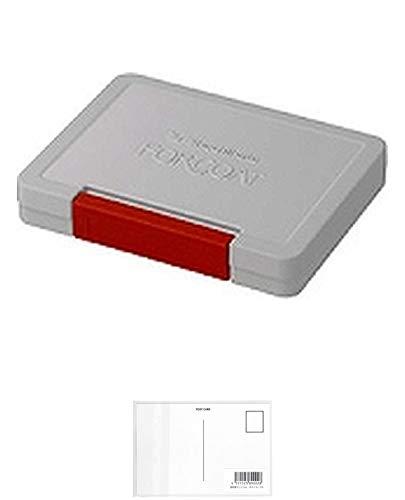 シャチハタ フォアコート スタンプ台 油性染料 HCN-2-R 中形 90×56ミリ 赤 + 画材屋ドットコム ポストカードA