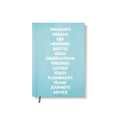 42thinx Notizbuch Thoughts Dreams Memories Ideas Plans Journeys DIN A5 kariert I Notizblock mit Hardcover 128 Seiten mit Designcover I Journal Notebook mit Lesezeichen I Notizblock gebunden Motiv