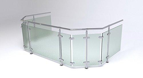 Edelstahl Glas Balkongeländer BAUSATZ Topmontage