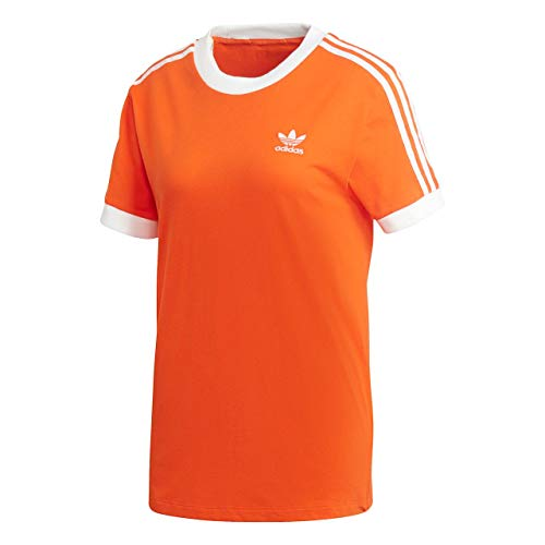 adidas 3 Stripes tee Camiseta, Mujer, Naranja (naranj), 30