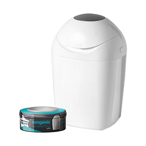 Tommee Tippee Sangenic Tec Nappy Disposal Bin, White