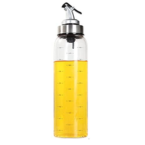 YLLAND Botella dispensador de aceite de oliva, aceite de vidrio y vinagre cruet, dispensador de botella de aceite transparente, para cocina, 300 ml (tamaño: 170 ml) LNNDE (tamaño: 500 ml)