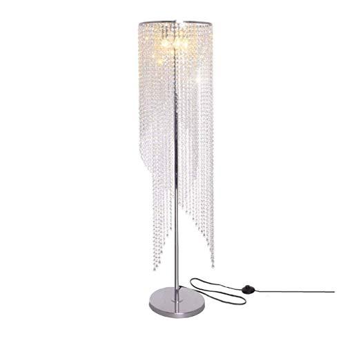 Floor Lamps Vertical Lamps Light European LED Remote Control Dimming Floor Lamp Living Room Bedroom Bedside Crystal Floor Lamp Standing Lamps Lights Lighting (Color : Dimmer Switch+Remote Control)