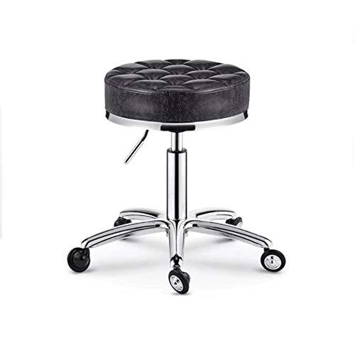 SXFYWYM Beauty Stool Verstelbare ronde rolstoel Tattoo Massage Salon Spa met wielen draaistoel/kruk