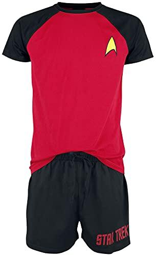 Star Trek Logo Hombre Pijama Negro/Rojo...
