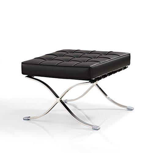Vivol Sessel Stuhl Schwarz Ottoman - Moderner Klassiker Retro Sessel - Design und Qualität erhältlich