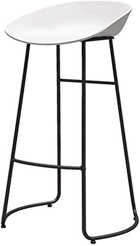 XHCP Muebles de Sala Taburetes Sillas Altas de Oficina Diseño de Muebles Modernos - 65/70/75 cm Altura del mostrador Taburete de Bar Base de Metal con Respaldo bajo - Asiento ergonómico