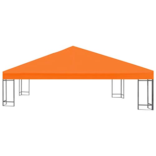 Lasamot Gazebo Top Cover, Gazebo Top Cover Gazebo Canopy Repuesto Top Tier Patio Canopy Cover 0.68lb / m² 3x3 m Naranja