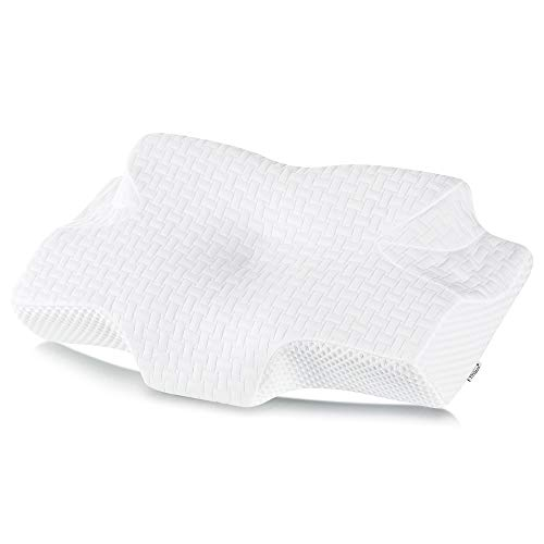 Elviros Memory Foam Cervical Pillow, Ergonomic Contour Pillow for Neck and Shoulder Pain Relief, Orthopedic Sleeping Bed Pillows for Side Sleepers, Back and Stomach Sleepers