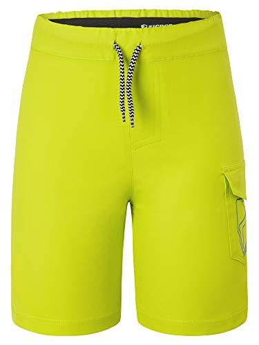 Ziener Unisex Kinder NISAKI X-Function Fahrrad-Shorts/Rad-Hose mit Innenhose/Mountainbike - atmungsaktiv schnelltrocknend gepolstert, Lime, 152