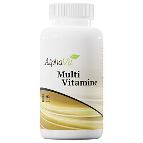 AlphaVit Multi Vitamine, uitgebalanceerde formule met alle belangrijke vitaminen en mineralen in juiste verhouding en de hoogste kwaliteit