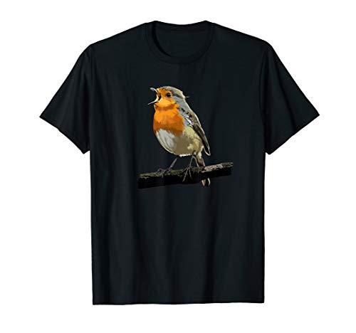 Rotkehlchen Vogel Beobachten Singvögel Geschenk T-Shirt
