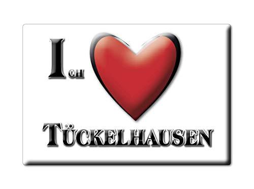 Enjoymagnets TÜCKELHAUSEN (by) Souvenir Deutschland Bayern Fridge Magnet KÜHLSCHRANK Magnet ICH Liebe I Love