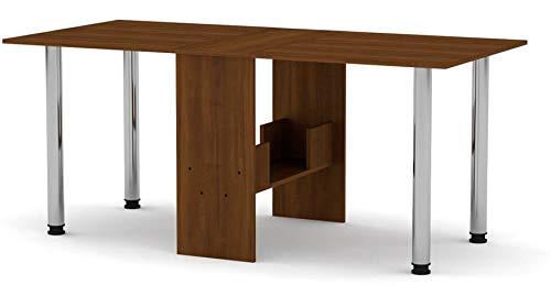 Rodnik Esstisch ausklappbar - platzsparend - Klapptisch - Bürotisch - klappbar-Nussbaum Farbe