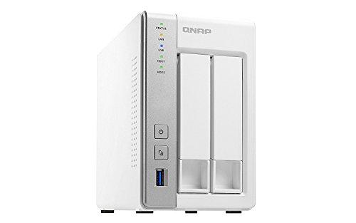 QNAP TS-231P2-1G 8TB Bundle 2-Bay Desktop Turbo NAS-System & 2X 4TB Festplatte