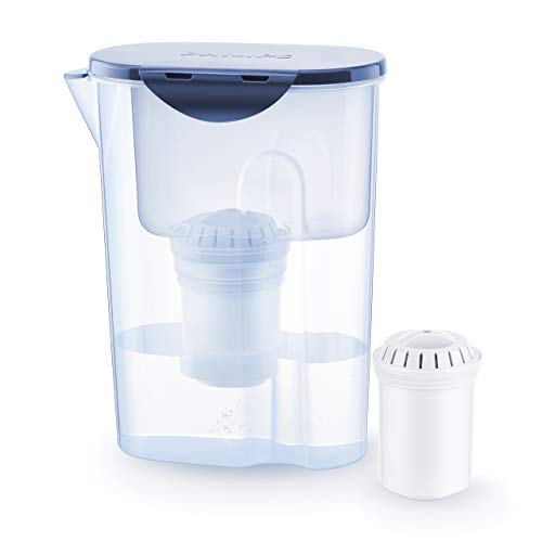 Philips Aqua Solutions AWP2915 Wasserfilter-Karaffe gegen Kalk, Blei, Chlor, Pestizide, Mikro-Plastik, Wasser-Filter mit Aktivkohle