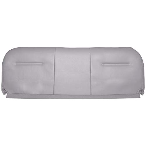 The Seat Shop Bench Bottom Replacement Vinyl Seat Cover - Medium Flint Gray (Compatible with 2003-2007 Ford F250, F350, F450, and F550 Super Duty XL Work Truck)
