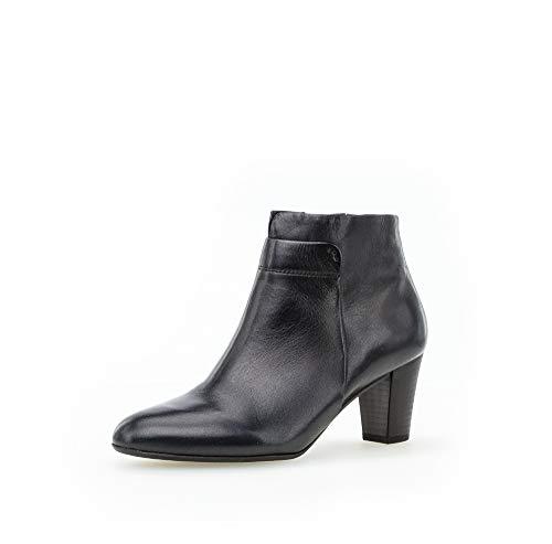Gabor Damen Stiefeletten, Frauen Ankle Boots,Comfort-Mehrweite,Reißverschluss, Kurzstiefel uebergangsschuhe,Ocean (Micro),38.5 EU / 5.5 UK