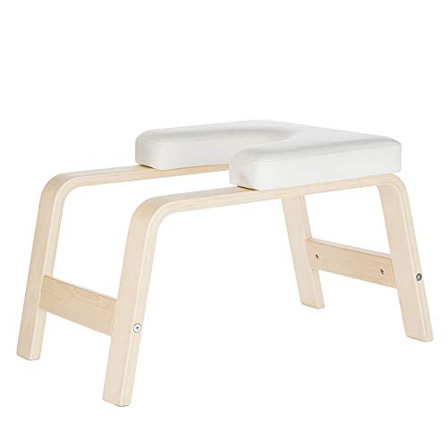 Review Of Kindlov-outs Yoga Inversion Bench Beech Yoga Inversion Stool Handstand Artifact Inverted A...