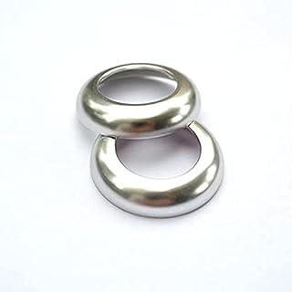 Aluminium Alloy Car Seat Head Pillow Adjustment Buttons Circle Decoration Sticker Trim/Fit For Pors.che Macan Interior Acc...