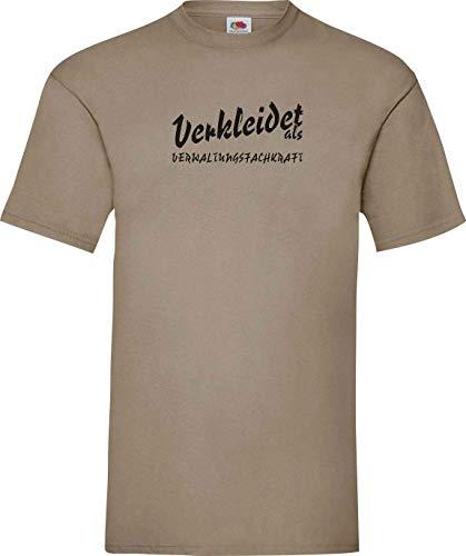 ShirtInStyle Camiseta T-Shirt Carnaval Verkleidet como Especialista administrativo La mejor Revestimiento Disfraz De Carnaval - Caqui, XXL