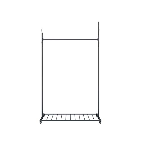 CSQ-wand-kapstokken Heavy kledingrek, Nordic Style Landing kapstok Badkamer Locker Room Clothes Rail Boutiques Heavy Hangers Zwart, Goud Kledingplanken (Color : Black, Size : 170 * 100CM)