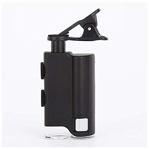HJTLK Lupe,LED-Lupe Vergrößerung 60X-100X Mikroskop für die UV-Währungserkennung von Mobiltelefonen,Hobby-Tool Lupen