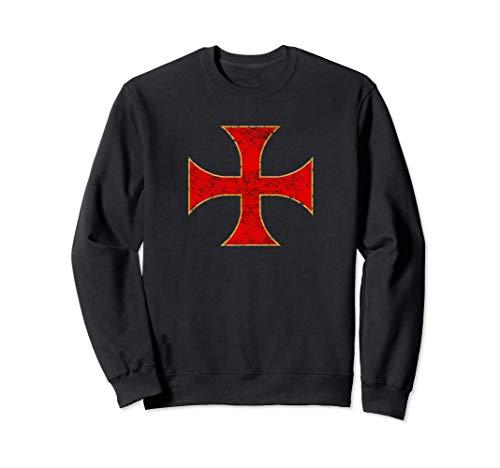 Cruz Caballeros Templarios Regalo Cristiano Hombre Mujer Sudadera