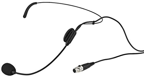 Monacor HSE-72 Elektret-Kopfbügelmikrofon mit Nierencharakteristik, schwarz