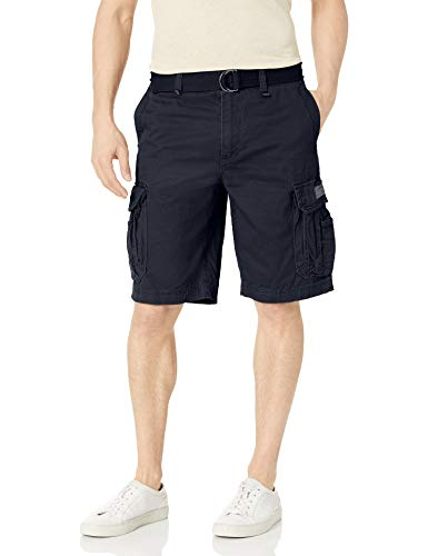 Unionbay mens Survivor Belted Cargo Short - Reg and Big & Tall Sizes,True Navy,34