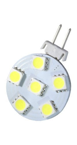 AutoLED 150 lampen G4 6 LEDs SMD 5050, wit, speciaal voor camping/auto