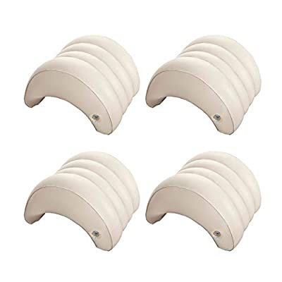 Intex Hot Tub Removable Inflatable Lounge Headrest Pillow Spa Accessory(4 Pack)