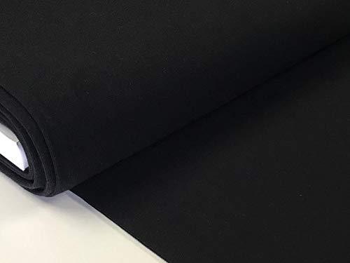 babrause® Bündchen Bündchenstoff Schlauchware Uni schwarz Baumwolle Ripp ab 0,5 Meter