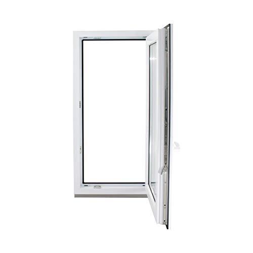 Finestre in PVC Aluplast col.Bianco con Anta&Ribalta Vetro Basso Emissivo - 450 x 750 mm, Lato maniglia: Sinistra