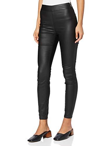 Marca Amazon - find. Pu Coated Pantalones Mujer, Negro (Black), 48, Label: 3XL