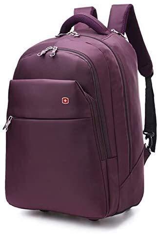 GQY Carretilla - Bolsa de Asas Bolsas Mochila Bolsa de Equipaje Ultraligero (Color : Violet, Size : Small(19))
