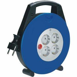 Brennenstuhl 2 x Kabelbox Vario Line 4-Fach 10m H05VV-F 3G1,5 schwarz/blau/lichtgrau