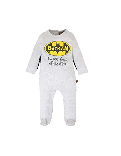 Batman- Pyjama Coton bébé Gris/Noir de 3 à 24mois - Gris/Noir, 24 Mois
