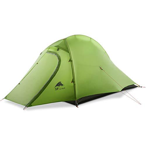 Al aire libre ultraligero carpas 15d camping tienda 1-2 persona 4 temporada tenda tente senderismo pesca playa barracas para acampar pesca tent tents apagón tienda ( Color : 15D green 4 season )