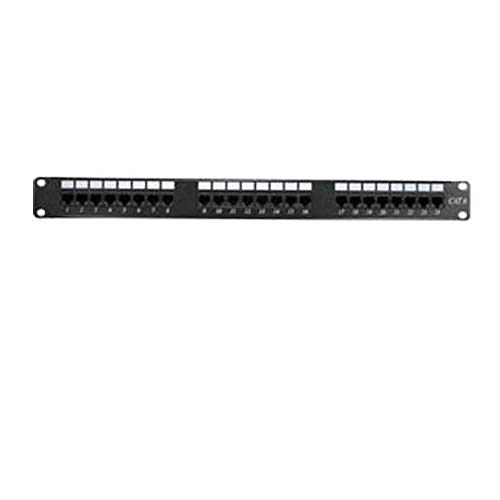 SF Cable 24-Port Cat6 110 Type Patch Panel 1U Rackmount or Wallmount,...