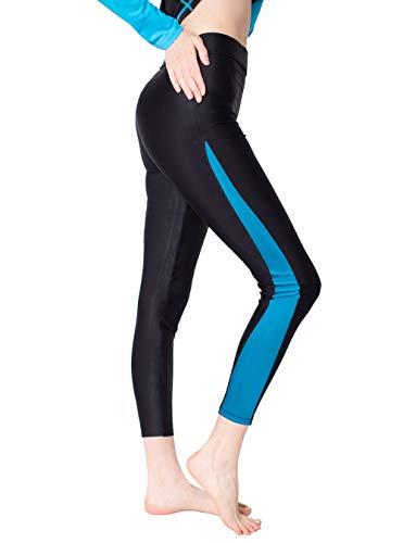 Scodi Women Ankle Length Swim Tights Blue S, Blue, Size Small