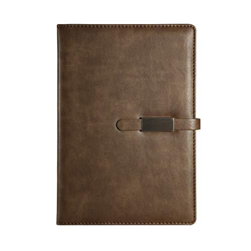 SHOTAY Cuaderno Diario, Cuero de la PU A5 B5 Cuaderno Diario Papel Rayado Planificador Diario Bloc de Notas con Hebilla Material Escolar Material Escolar Gris Verde-B5